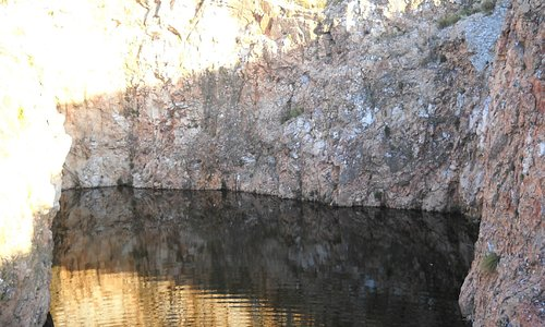 Olla de agua en el camino a Los Gigantes