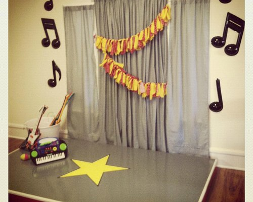 Just Like a Rock Star (stage with musical instruments)