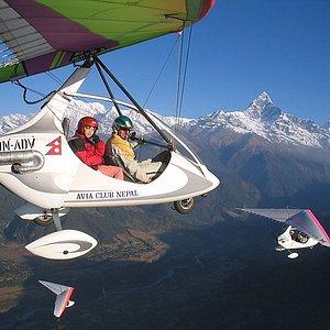 Flights on ultralights in Pokhara