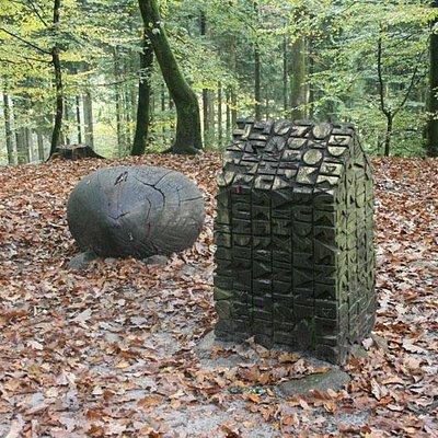 Kunst i skoven ved Himmelbjerget