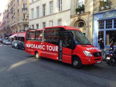 Paris Panoramic Tour bus Stop at Notre Dame