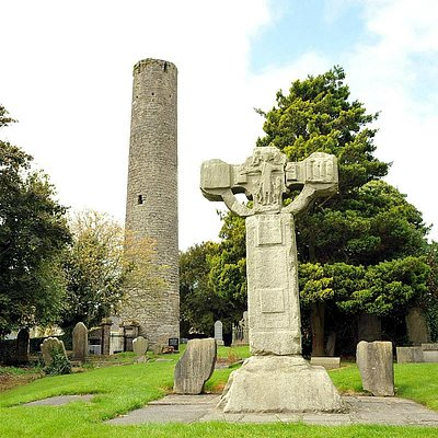 The Unfinished Cross and the Round Tower