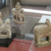 Paris, Cabinet des Médailles, Chess set, alleged to be Charlemagne's.  Elephan