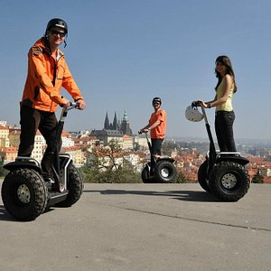 Segway trip - view from Petrin terraces