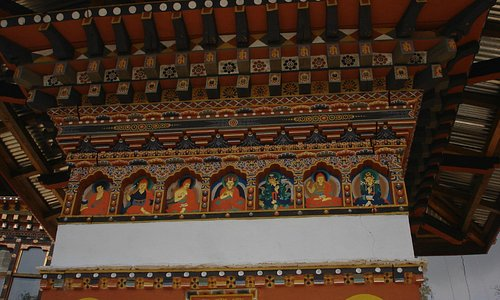 Ancient wall paintings in Hong Tscho Goemba Monastery