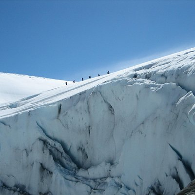 People on top of Folgefonna Glacier