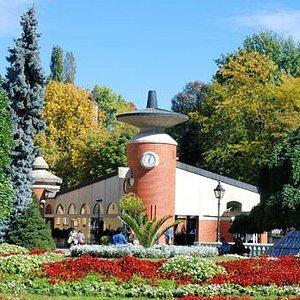 Rondom het park staan klinieken en onderzoekscentra