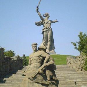 Mother Russia on Mamaev Kurgan in Stalingrad