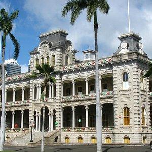 Iolani Palace, Honolulu, Hawaii.