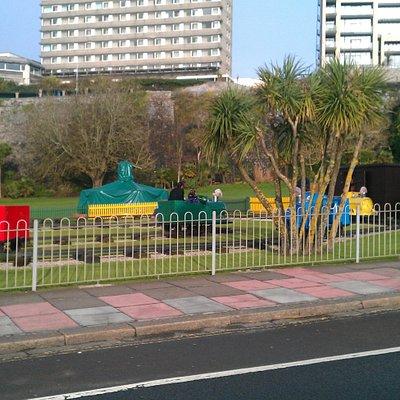 Trains at West Hoe Park