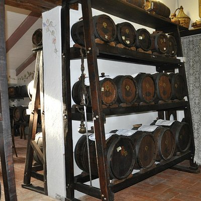 Barrels of the Traditional Balsamic Vinegar of Modena