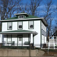 The Clinton childhood home from across the street