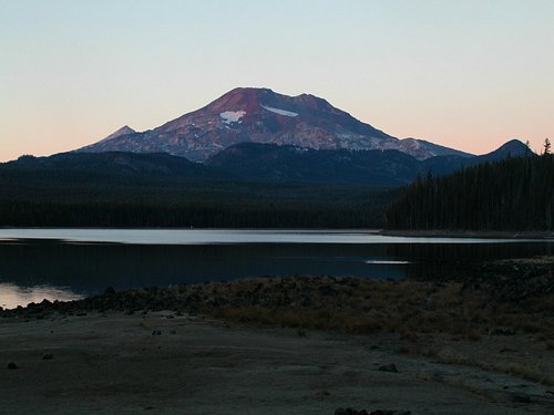 South Sister from Elk Lake South Beach