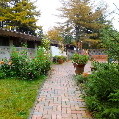 approach to Bartlett Maine Estate Winery