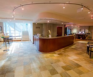 The reception desk at The Spa at River's Edge