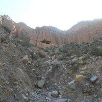 Vista de las cuevas desde el exterior