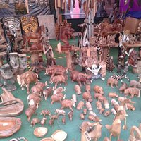 local event wooden item stall