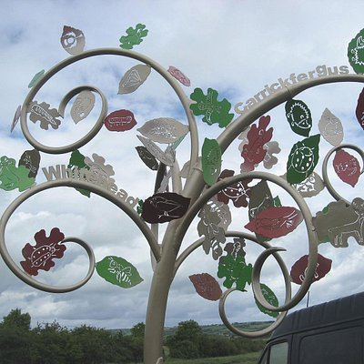 Kevin Killen and local school children made this sculpture