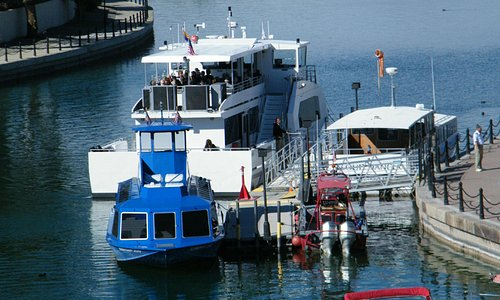 Boat on left
