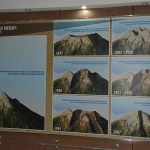 Altered Merapi top after major eruptions