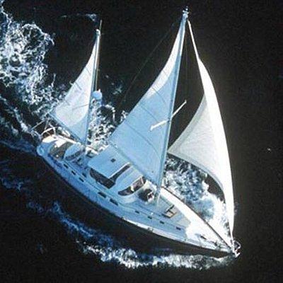 Windfall under sail
