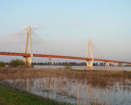 Вантовый мост через р.Ока. Разлив 2012 г.