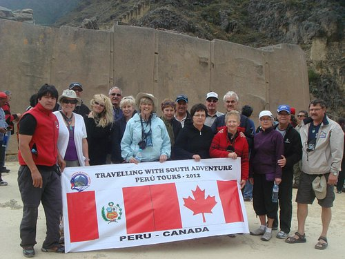 In front of the TEMPLO of the SUN in Ollantaytambo by SOUTH ADVENTURE