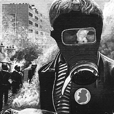 Our Most Famous Mural - The Petrol Bomber.