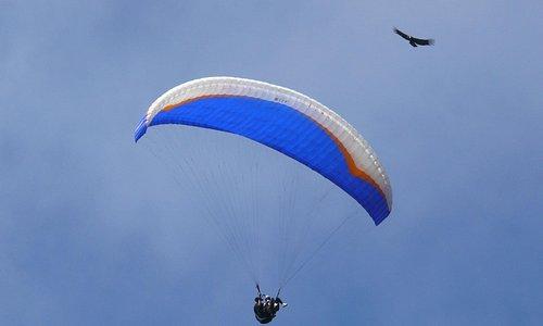 Volando en parapente