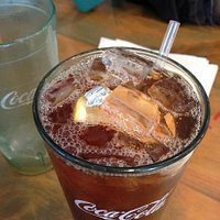 sweet tea with wrapper.