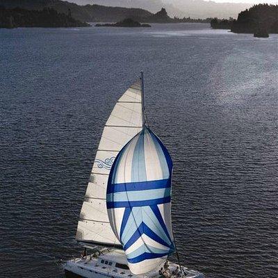 Tiua sails on Lake Rotoiti