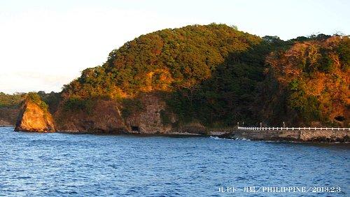 美しいコレヒドール島より海岸望む