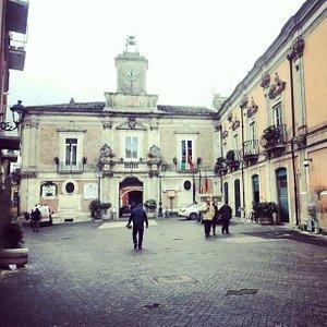 Palazzo Celestini visto da piazza Municipio