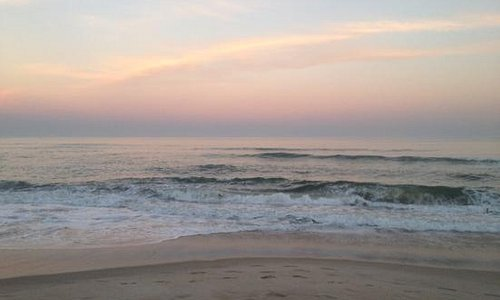 sunset in São Pedro beach