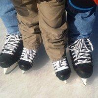 Hockey skates big and small!