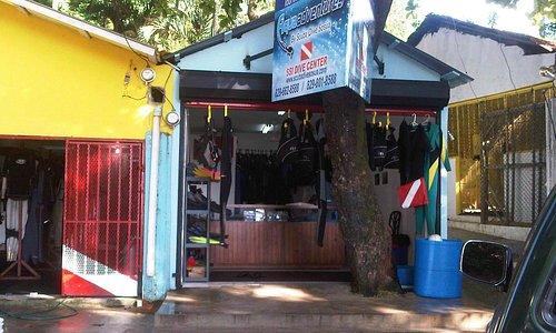 Shop on Sosua Beach parking area