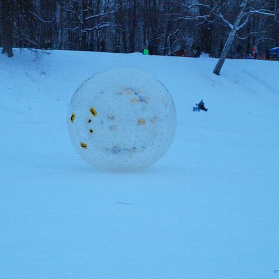 Winter zorbing Moscow