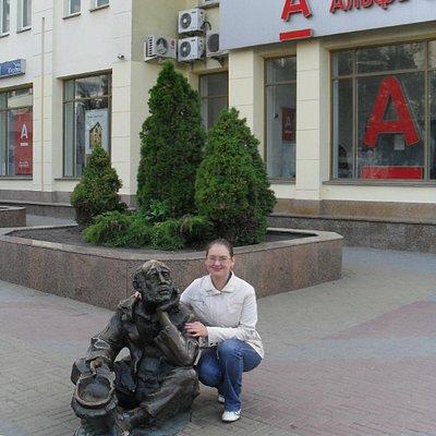 Памятник нищему в Челябинске