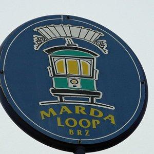 Marda Loop sign, Feb 2013