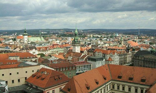 Brno centre from cathedral spires