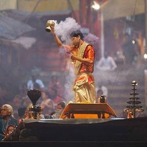 Evening Aarti ceremony at Dashashwamedh Ghat