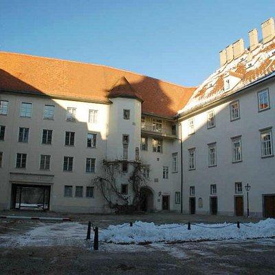 Внутренний двор замка Грац