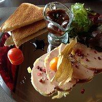 Foie gras starter was beautifully presented.