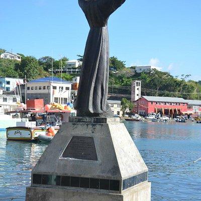 Christ of the Deep -Denkmal am Hafen St. Georges Grenada