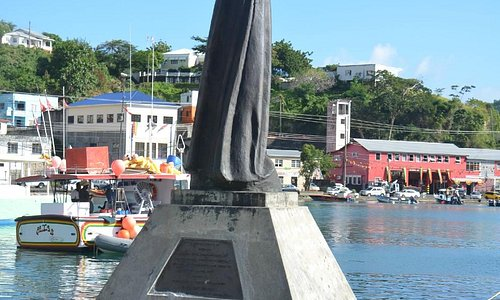 Christ of the Deep -Denkmal am Hafen St. Georges Grenada