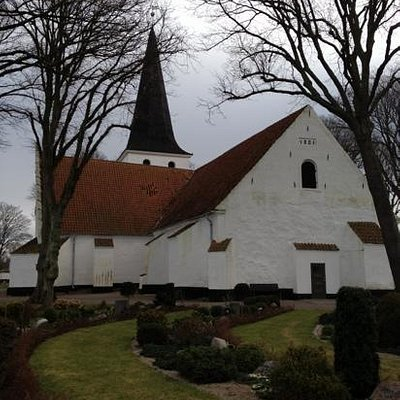 Bogense church, beautiful place overlooking the sea