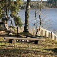 A picnic place at Lake Pühajärv
