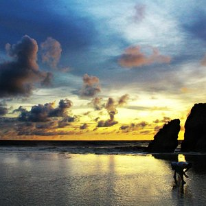 Kukup Beach, sunset