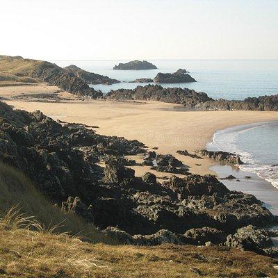 Deserted beach on Llanddwyn Island