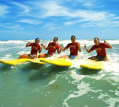 Surfing lesson in South Padre Island